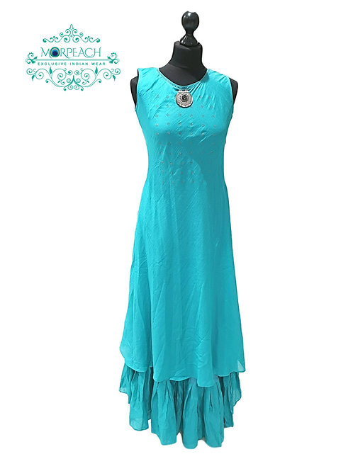 Turquoise Single Piece Kurti
