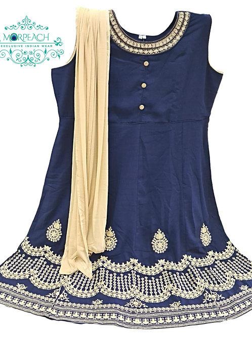 Blue Daman Work Dress (5XL)