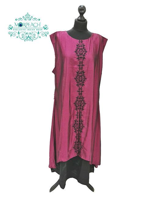 Shiny Purple Partywear Kurti (7XL)