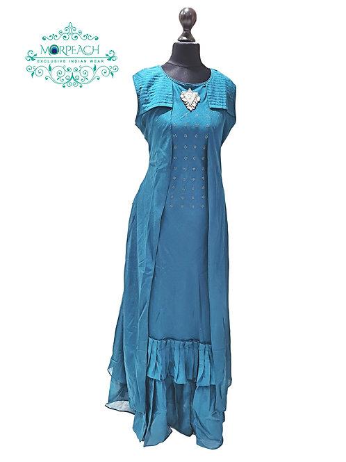 Blue Partywear Kurti (L)