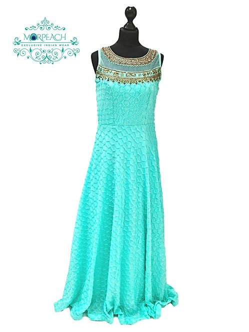 Sea Green Shimmer Gown (R)