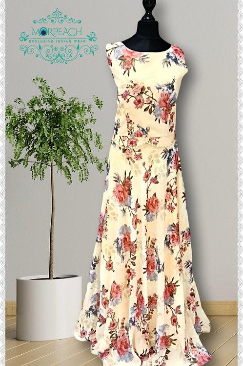 Yellow Floral Chiffon Dress (R)