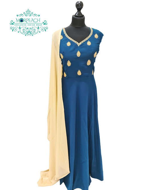 Morpeach Blue Elegant Dress (2XL)