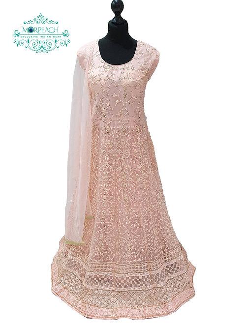 Peach Thread and Sequence Dress (4XL)