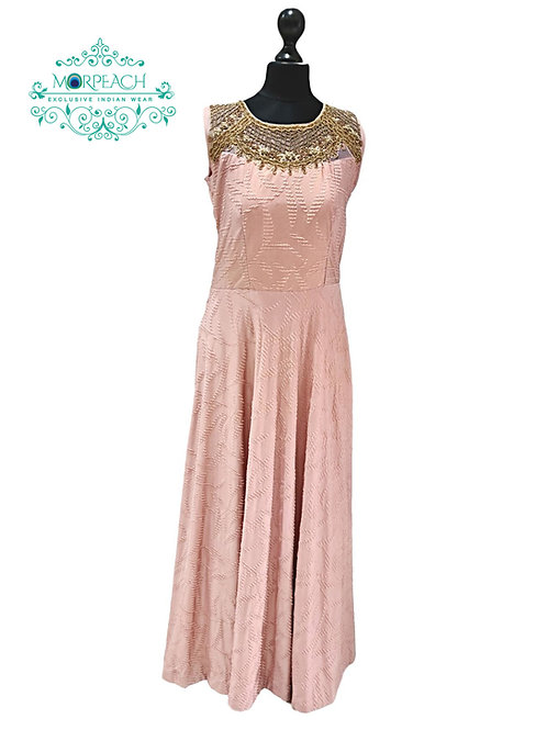 Dusty Pink Embosed Gown (R)