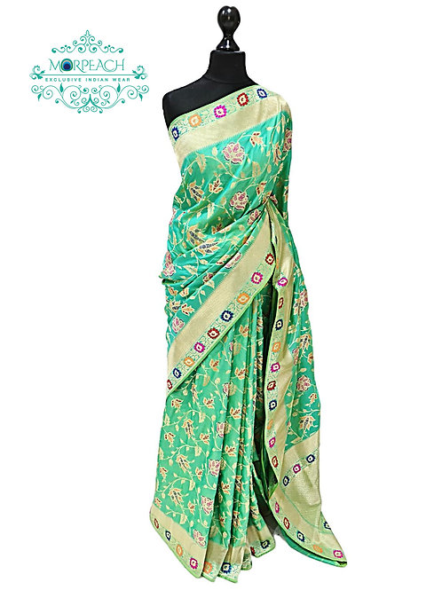 Light Green Overall Silk Saree