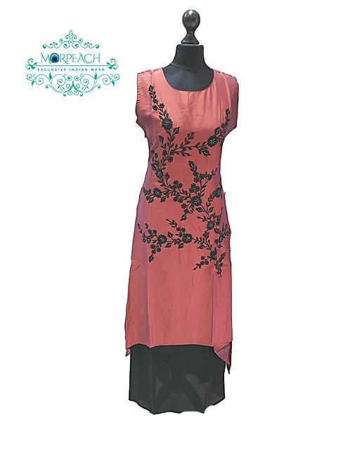 Shiny Brown Partywear Kurti (M)