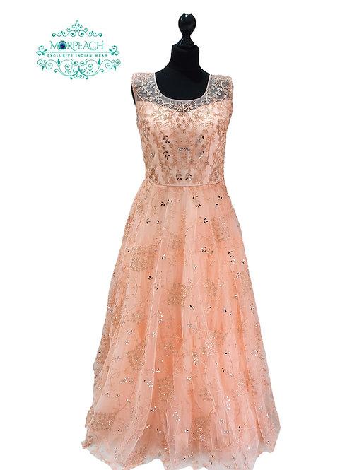 Peach Partywear Mirrored Gown (R)