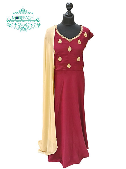 Maroon Elegant Dress (4XL)