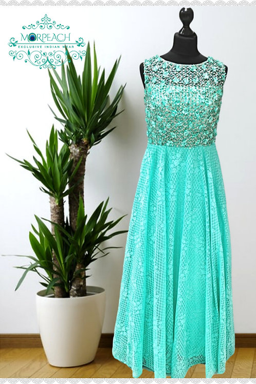 Sea Green 3D Flower Dress (R)