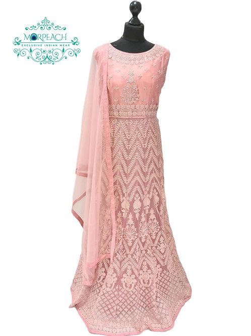 Pink Heavy Work Net Gown (2XL)