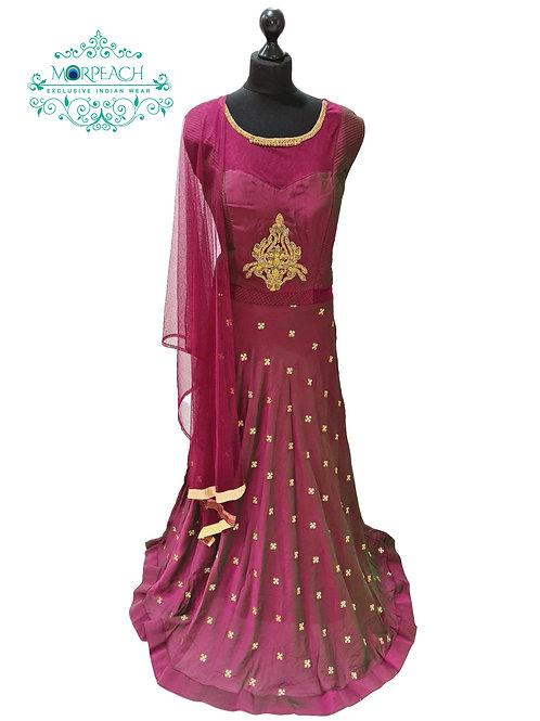Magenta Chiffon Dress (3xl)