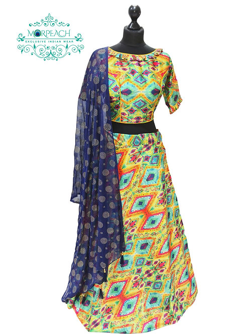 Multicolor Silk Lehenga (Reg)