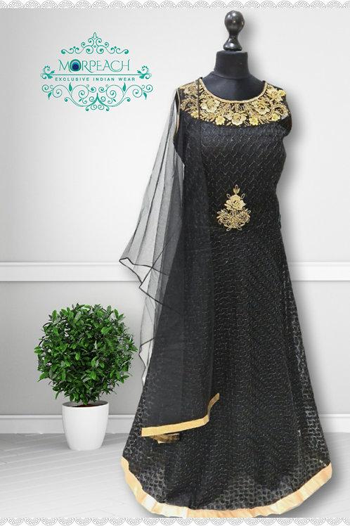 Black Shimmer Dress (Reg)