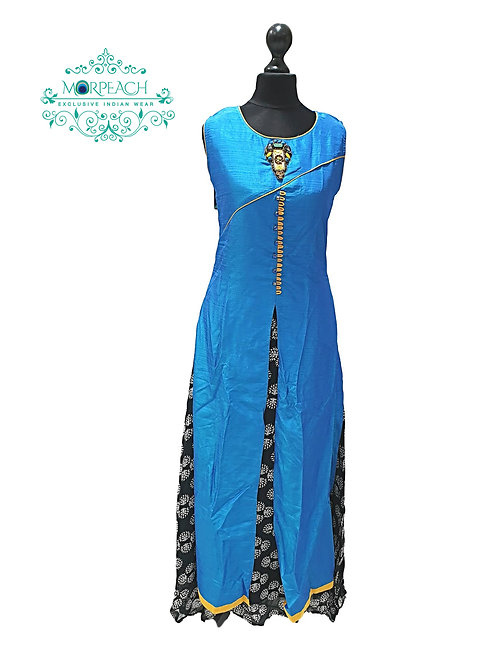 Blue And Black  Layered Kurti (M)