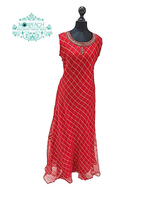 Red And Gold Kurti (5XL)