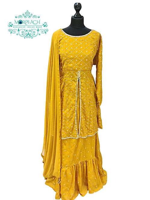 Mustard Long Top Lehenga (3XL)
