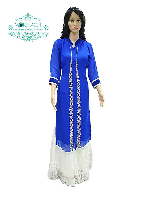 Royal Blue Gharara