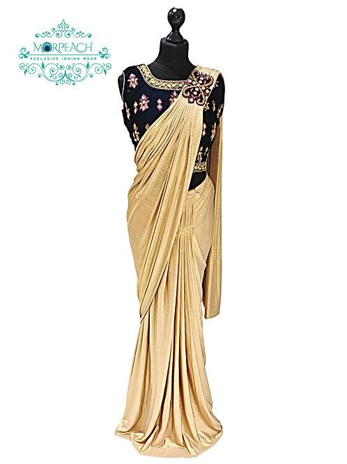 Golden Readymade Saree
