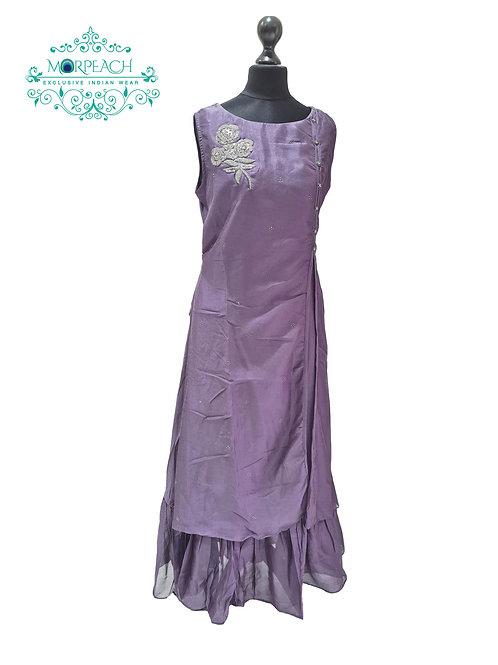 Purple Doulbe Layered Kurti (5XL)