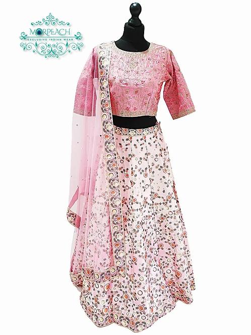 Floral Pink Lehenga (Reg)