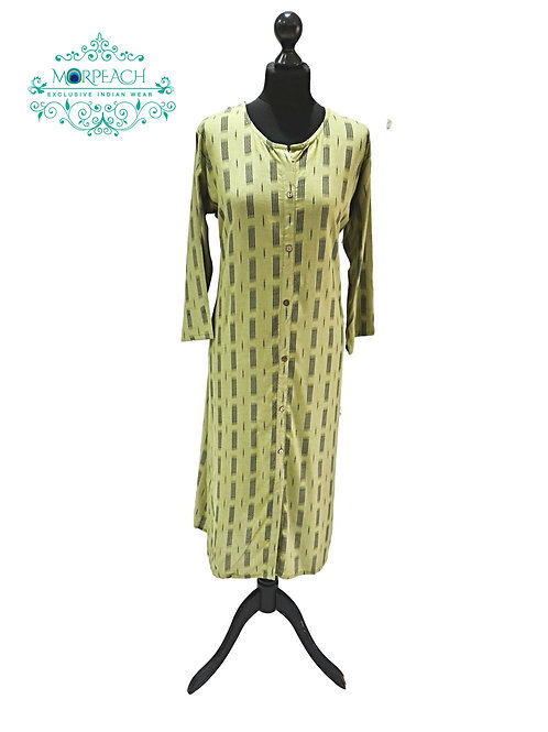 Green Rayon Kurti (2XL)