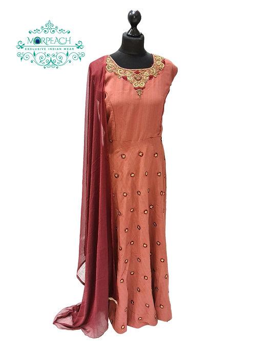 Dusty Pink Threadwork Dress (3XL)