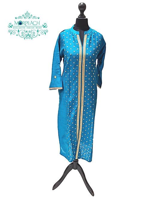 Blue Silk Kurti (L)