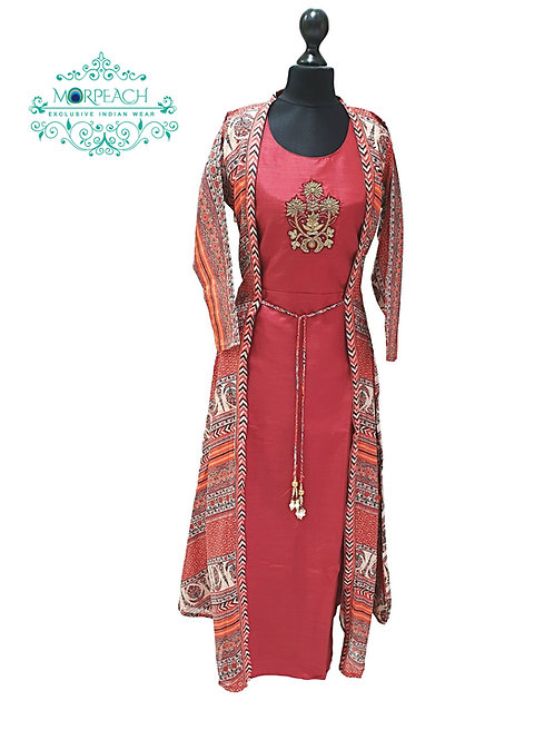 Attached Jacket Style Kurti (M)
