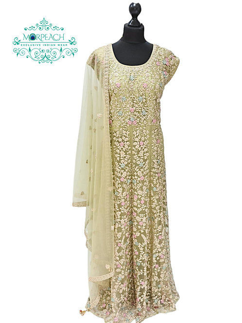 Light Green Embroidered Dress
