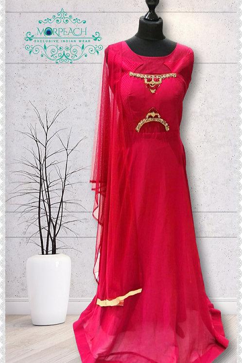 Cherry Red Chiffon Dress (Reg)