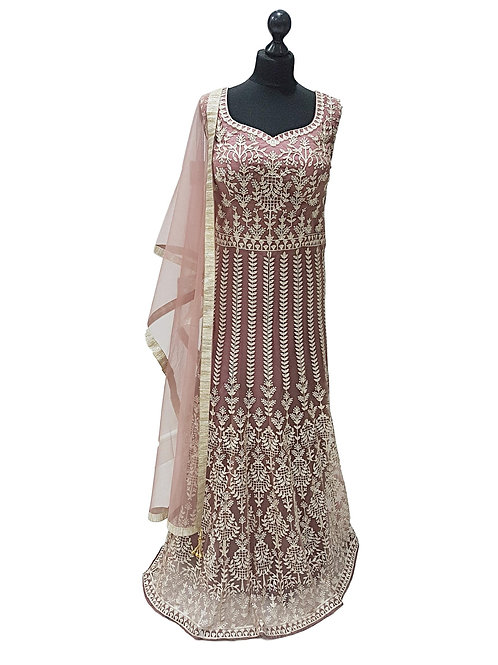 Violet Heavy Embroidered Dress (XL)