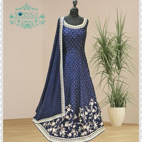 Blue Diamond Embedded Heavy Gown (R)