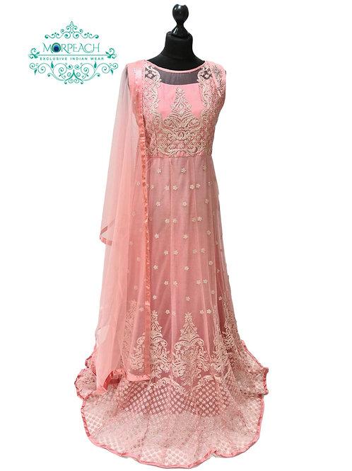 Pink Heavy Work Net Gown (3XL)