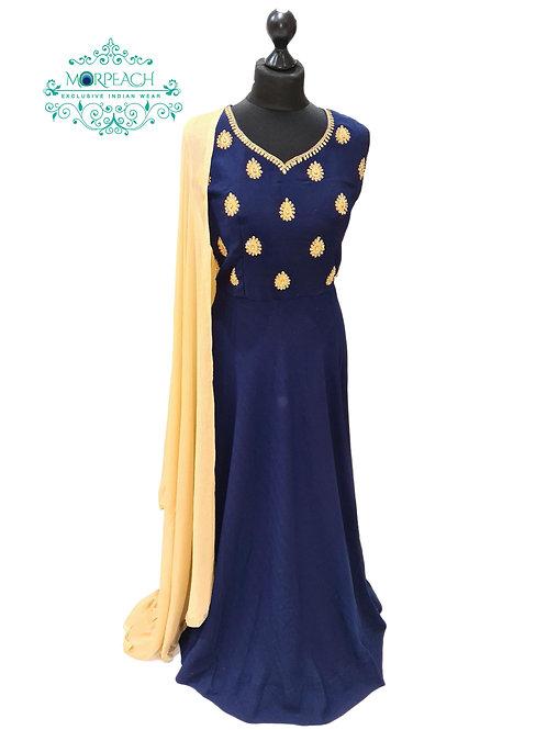 Dark Blue Elegant Dress (XL)