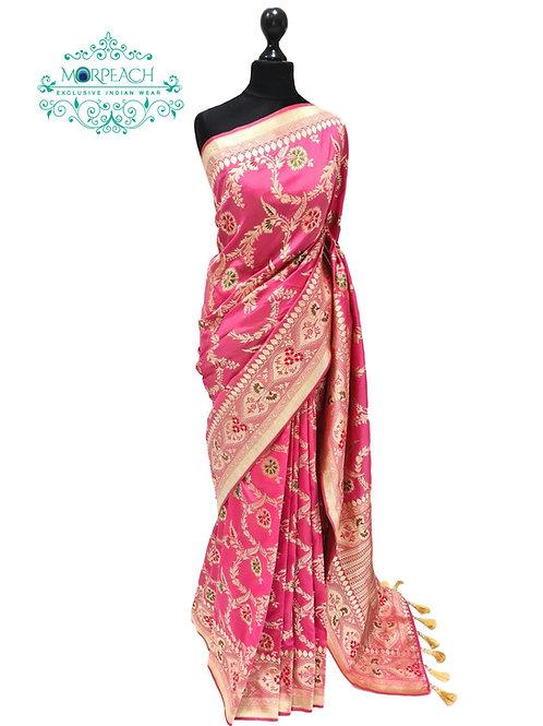 Pink Allover Silk Saree