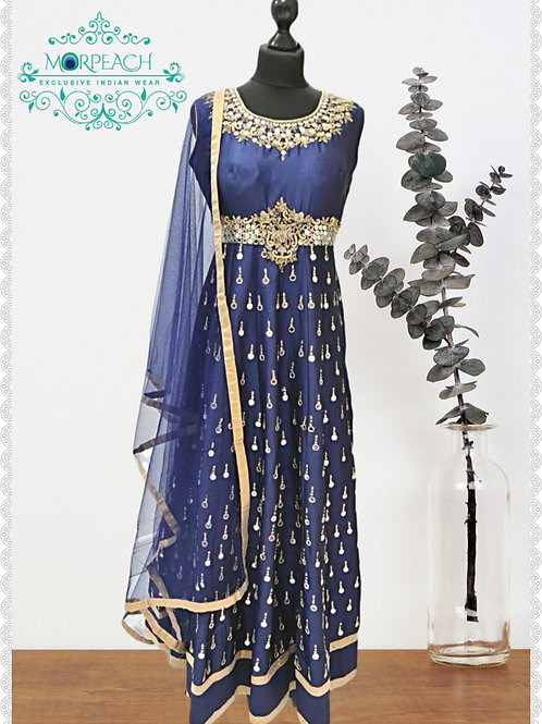 Blue Mirrorwork Dress (R)