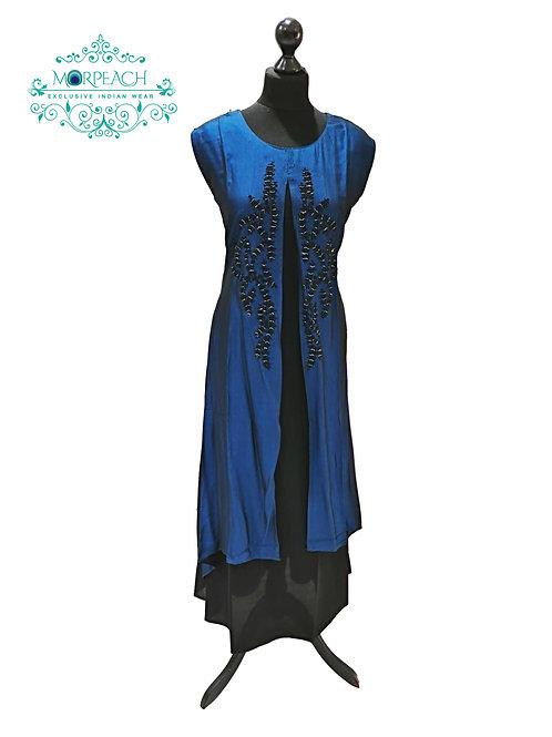 Midnight Blue Partywear Kurti