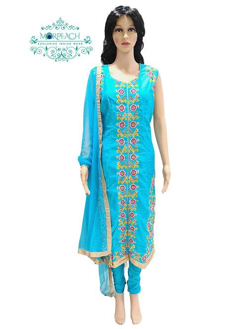 Blue Straight Cut Dress (2XL)