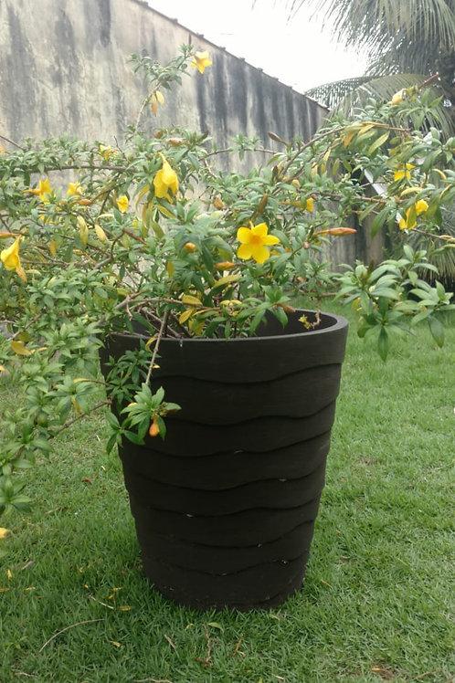 01 Vaso de Polipropileno grande com Alamanda amarela