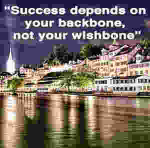Success depends on your backbone, not your wishbone