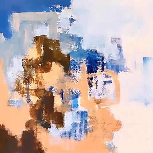 """Blue Icing 8""""x8"""""""