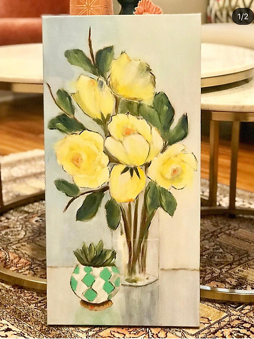 """Roses Are Yellow 15""""x30"""""""