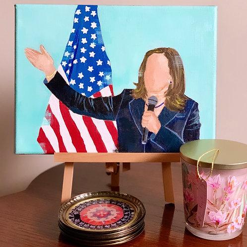 "Madam Vice President, we are listening! 9""x12"""
