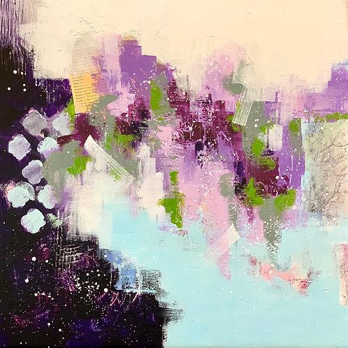 """Lavender Wisteria 20""""x20"""""""