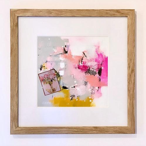 """Love Is Pink II 12""""x12"""" framed"""