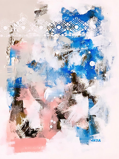 """""""Blue Waters and Pink Sand II"""", 8""""x10"""""""