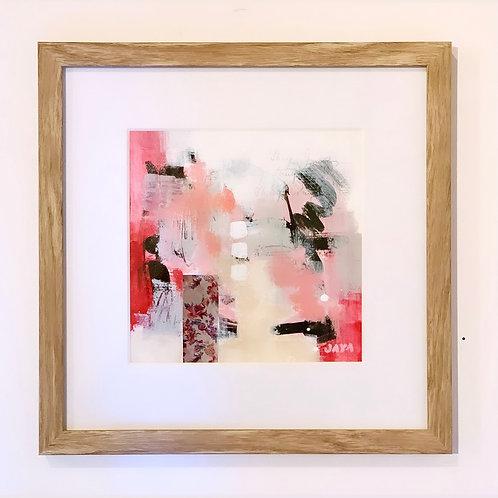 """Love Is Pink I 12""""x12 framed"""