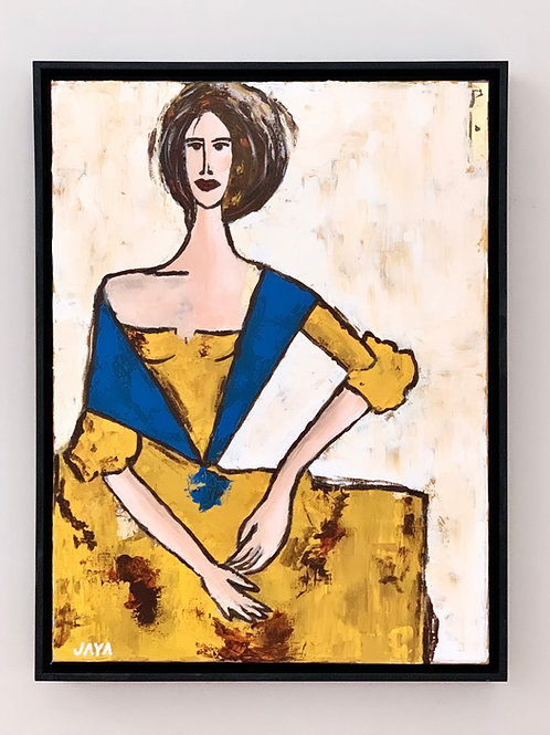"""Lady in Yellow 18""""x24"""""""