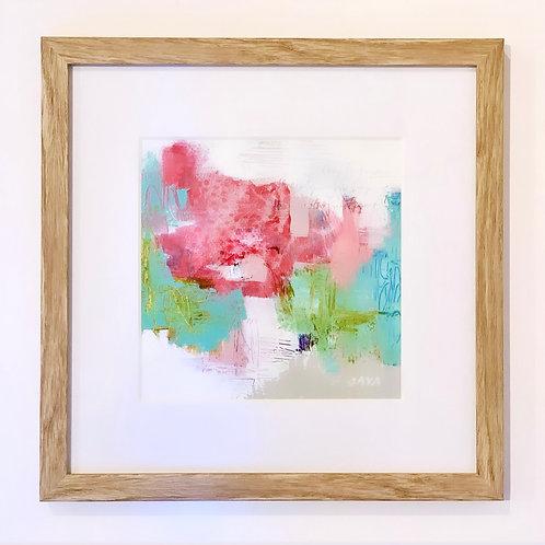 "Love Is Pink III 12""x12"" framed"